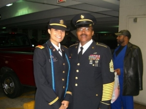 CSM Carlton Branch and daughter  Capt. Jessica Branch