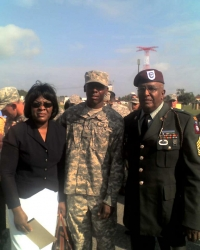 CSM Donnell Everett, wife Robert, and son Sgt. D.Everett, jr.