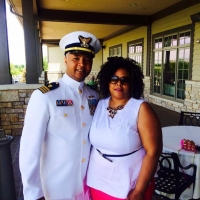 Lt.CDR Stacy Miller and wife Shanette Manley Miller